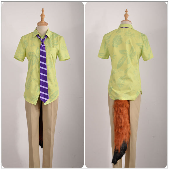 Vulpes Nick Wilde Costume Movie Zootopia Cosplay for Halloween Carnival Convention