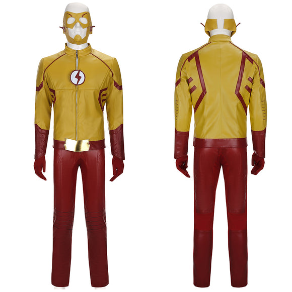 Wally West Costume with Mask TV Series The Flash Season 3 Cosplay for Halloween Carnival Convention