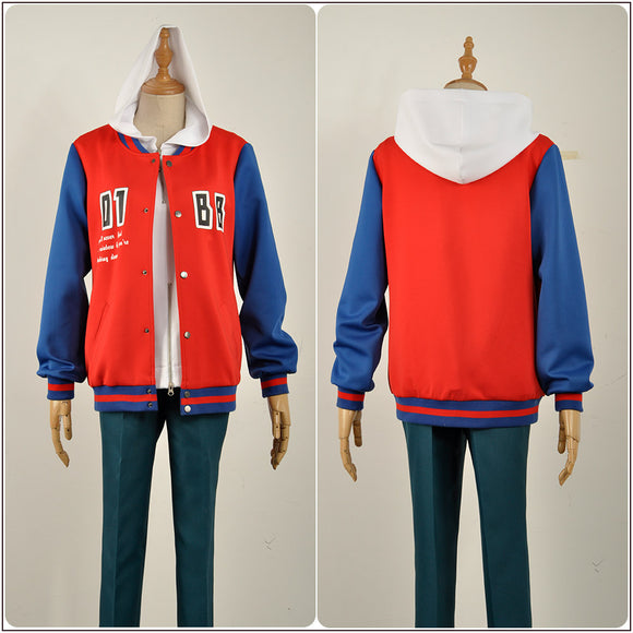 Yamada Ichiro Costume Red Coat Game Hypnosis Mic Division Rap Battle Cosplay for Halloween Carnival Convention