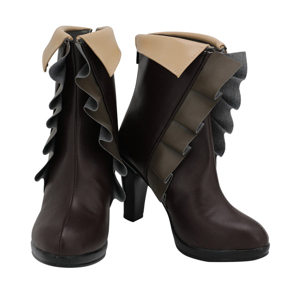 Yue Shoes Boots Anime From Commonplace to World's Strongest Cosplay for Halloween Carnival