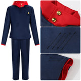 Yuji Itadori Costume Blue Suit Anime Jujutsu Kaisen Cosplay for Halloween Carnival Convention