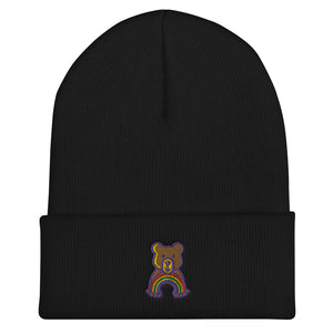 Rainbow Teddy Cuffed Beanie