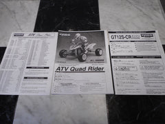 Kyosho Quad Rider Manual (nitro)