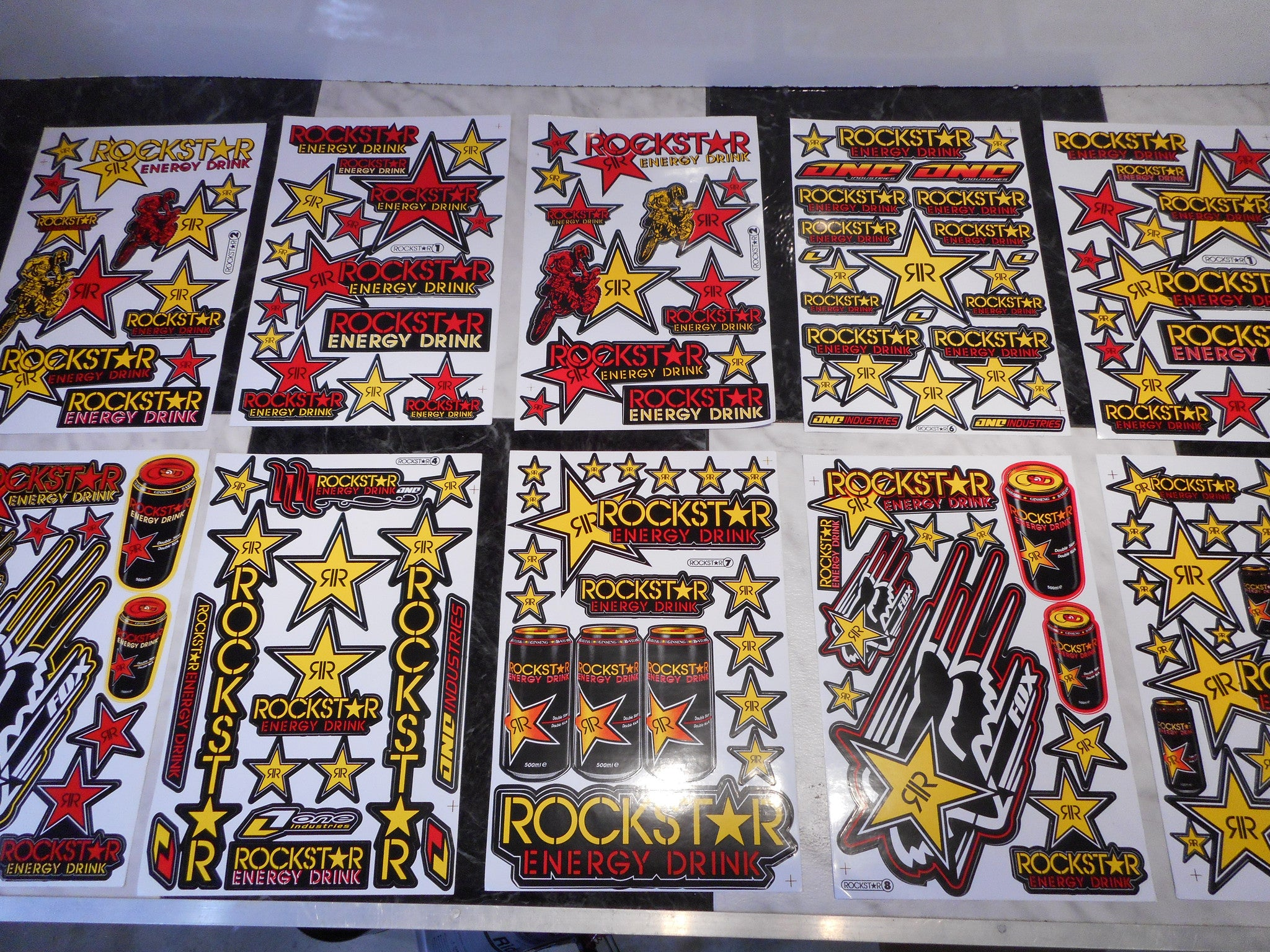 ROCK STAR 2PC Stickers