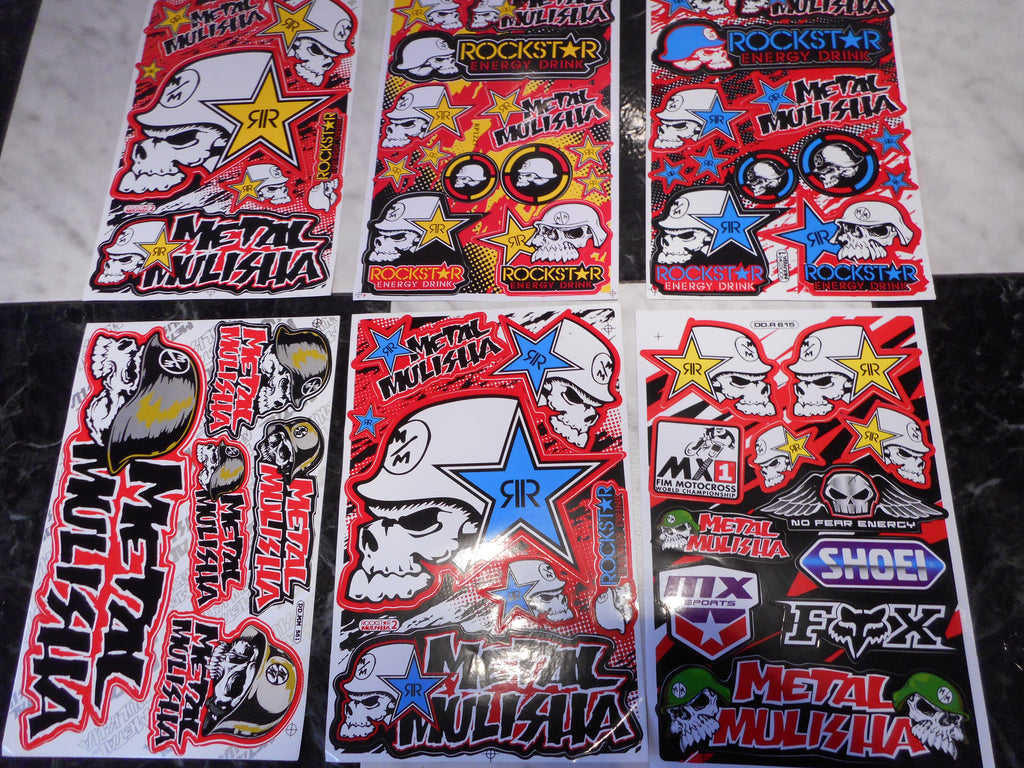 METAL MULISHA 2pc Stickers
