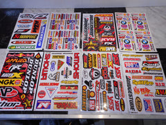 MOTOCROSS Sponsor 2pc Stickers