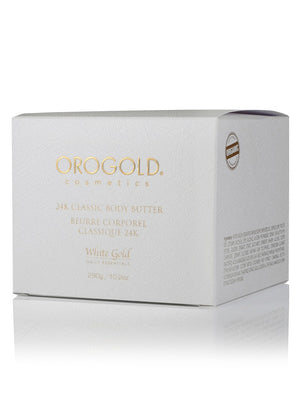 24K Classic Body Butter Body Care, OROGOLD Cosmetics, White Gold