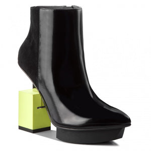 Cube Bootie Black + Lime
