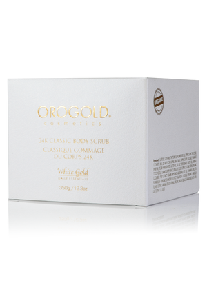 24K Classic Body Scrub Body Care, OROGOLD Cosmetics, White Gold