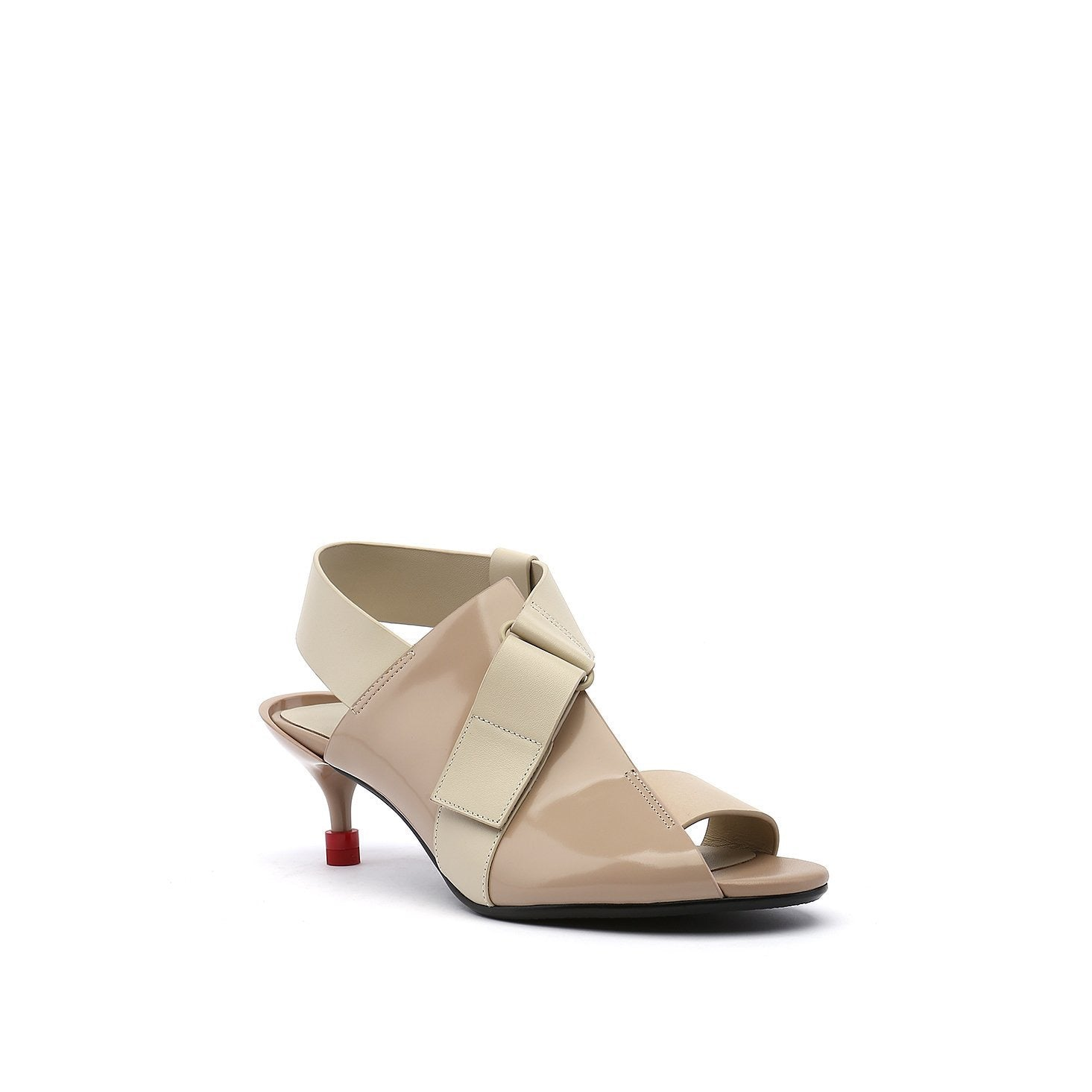 Square Sandal Mid Nude SS20