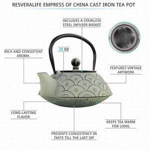 Empress of China Cast Iron Teapot