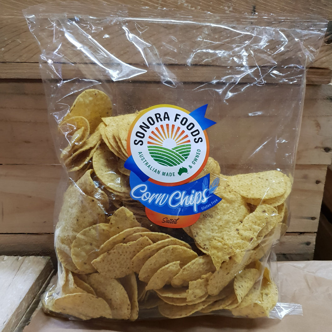 Sonora Foods Corn Chips Salted 500g
