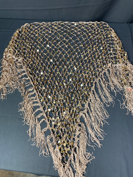 Multiple Available: Brand New Nude and Gold Shawl