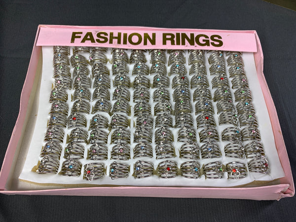 100 Brand New Rings in Box