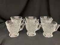 Set Of 6 Aderia Glass Cups Boxed