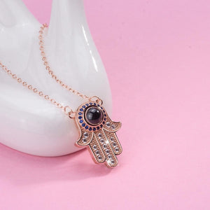 Hamsa Necklace With Hidden Mantras