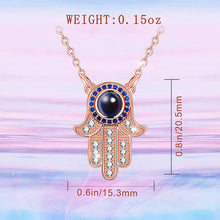 Load image into Gallery viewer, Hamsa Necklace With Hidden Mantras