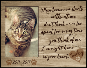Cat Memorial Picture Frame