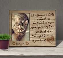 Load image into Gallery viewer, Cat Memorial Picture Frame