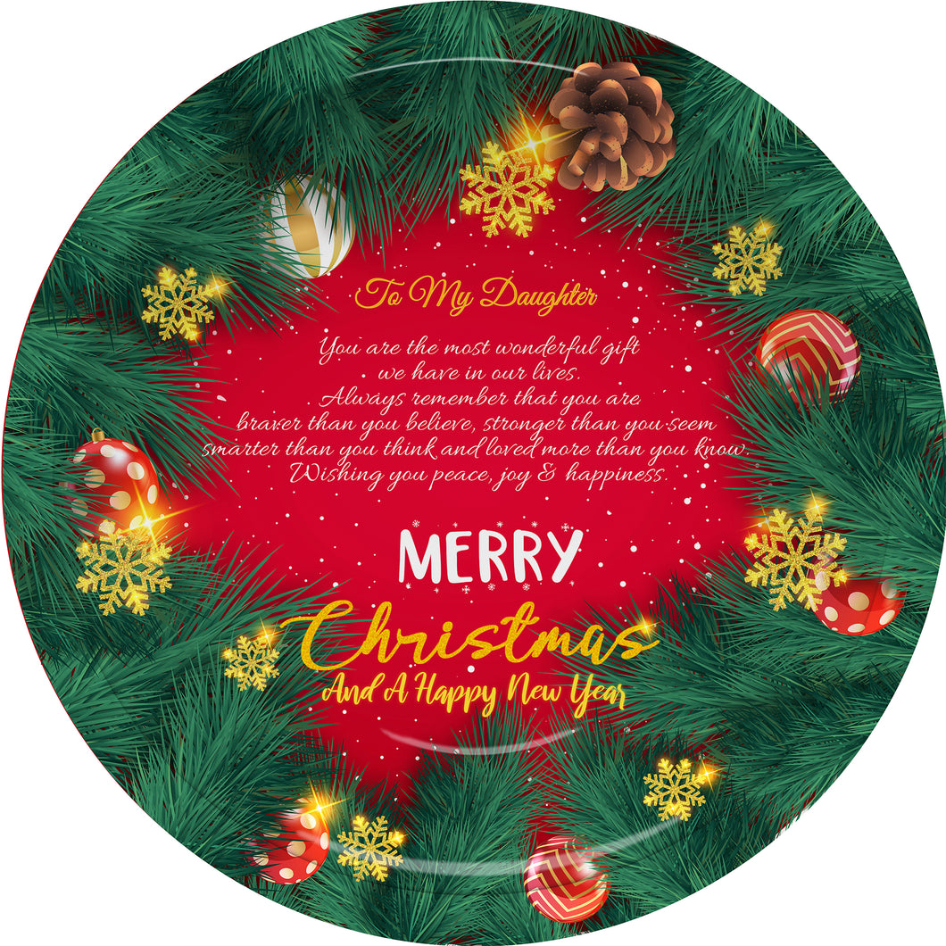Christmas Plate - You are the most wonderful gift we have in our lives