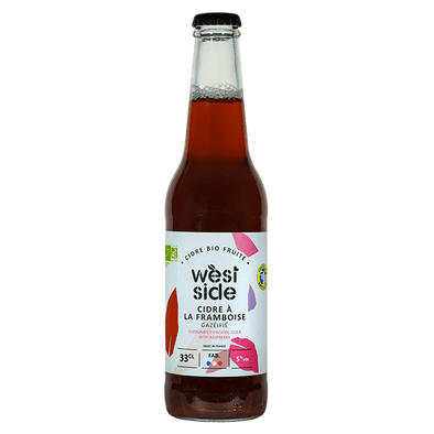Cidre à la framboise WEST SIDE Bio - 33 cL