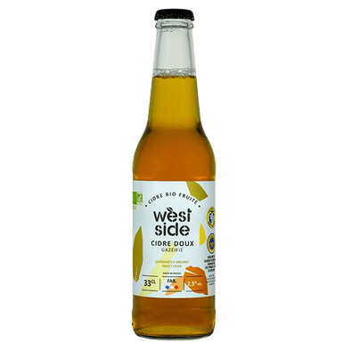 Cidre doux WEST SIDE Bio - 33 cL
