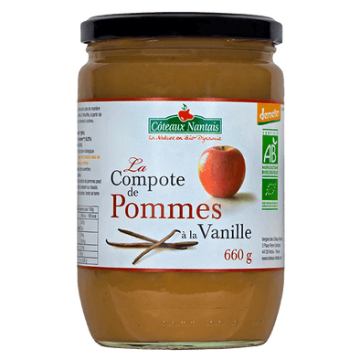 Compote pommes vanille Bio Demeter - 660 g