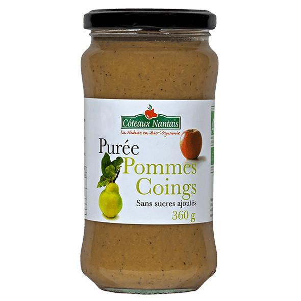 Purée pommes coings Bio - 360 g
