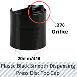 Wholesale 12/50/100x 20MM Black Clear Dispensing Cap Disc Snap Top Screw neck Cap only Use for 20/410