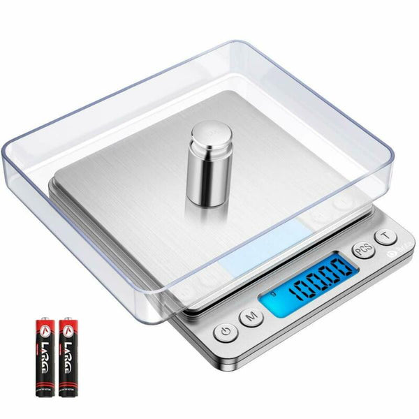 FanBell Mini Digital Scale 3000g x 0.1g Jewelry Gold Silver Coin Gram Pocket Herb Grain