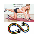 FanBell 11 Pack Exercise Resistance Bands with Handles Set