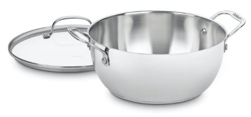 755-26GD Chef's Classic Stainless 5-1/2-Quart Multi-Purpose Pot with Glass Cover