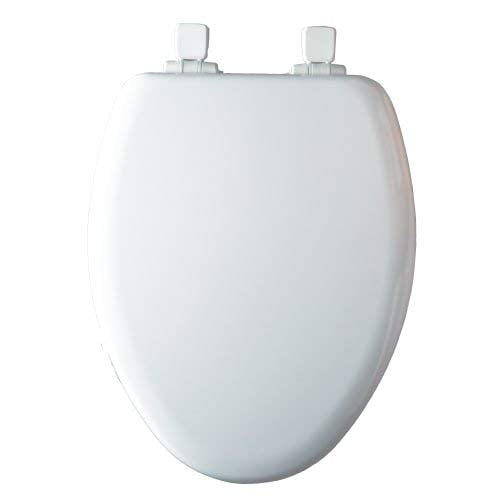 1483SLOW 000 NextStep Wood Elongated Slow-Close Toilet Seat, one-size, White