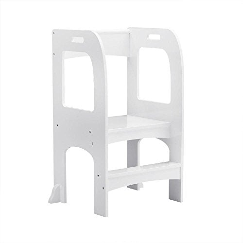 Home Kids On The Rise Kids Kitchen Step Stool White