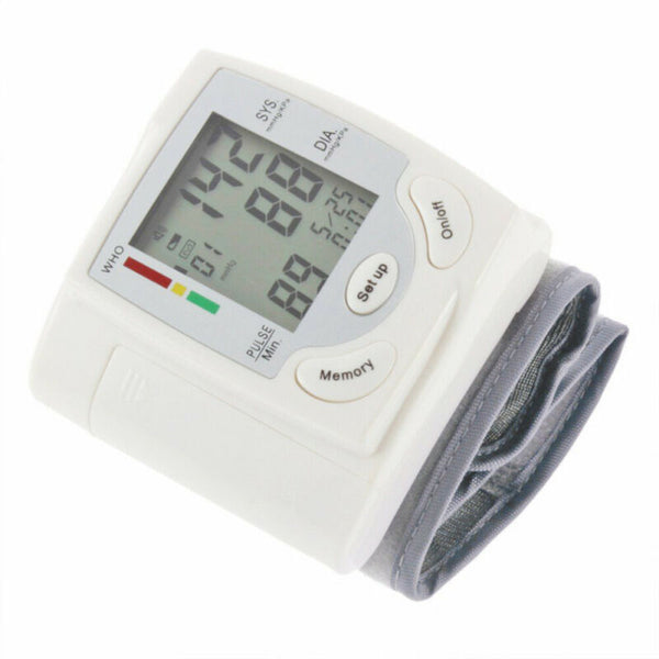 FanBell Blood Pressure Monitor BP Heart Rate Checker Wrist Pulse Arm Meter Machine Cuff