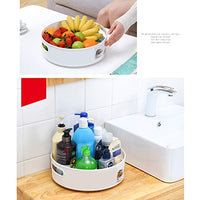 Multifunction Lazy Susan Turntable Spinning Plastic Racks for Kitchen Seasonings Spice Fridge Rotating Tray Cosmetic Storage Organizer for Countertop