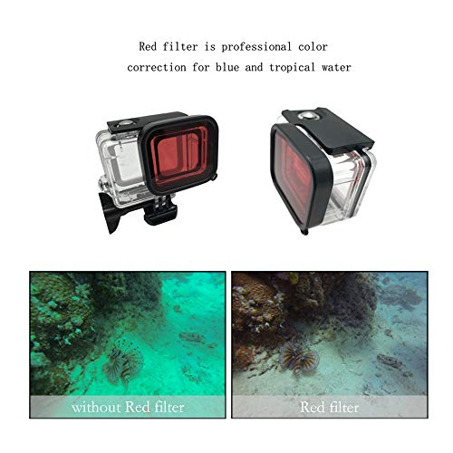 Accessories kit for GoPro Hero 7 Waterproof Housing Case Travel Case Small Detachable Long Neck Strap Lanyard Screen Protector Red Filter Anti-Fog