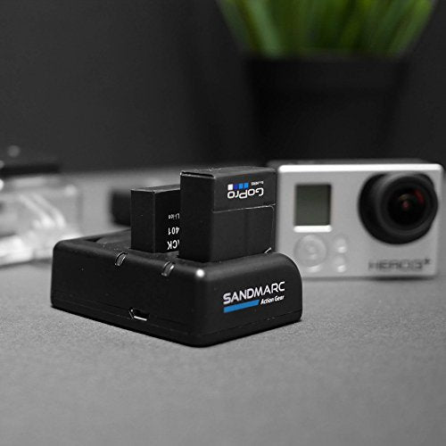 Procharge: Triple Charger for GoPro Hero 4, 3+, 3 and Smart (WiFi) Remote