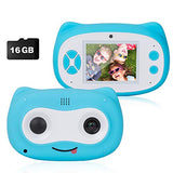 Kids Camera Digital Dual Camera 8.0MP Rechargeable Children Camcorder with 2.8'' Screen 4X Digital Zoom Gift for 3-12 Years Old Girls Boys