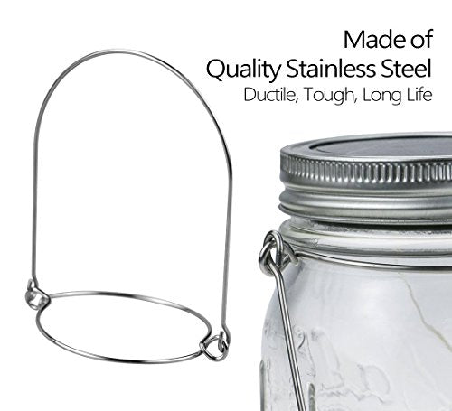 12 Pack Stainless Steel Wire Handles (Handle-Ease) for Mason Jar Ball Pint Jar Canning Jars Mason Jar Hangers and Hooks for Regular Mouth Set of 12
