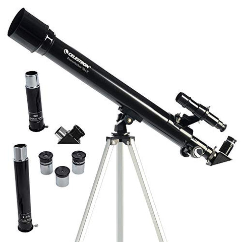 PowerSeeker 50AZ Telescope - Manual Alt-Azimuth Telescope for Beginners - Compact and Portable - BONUS Astronomy Software Package - 50mm Aperture