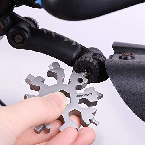 18-in-1 Snowflake Multi Tool Stainless Steel Snowflake Bottle Opener/Flat Phillips Screwdriver Kit/Wrench Durable and Portable to Take Christmas gift