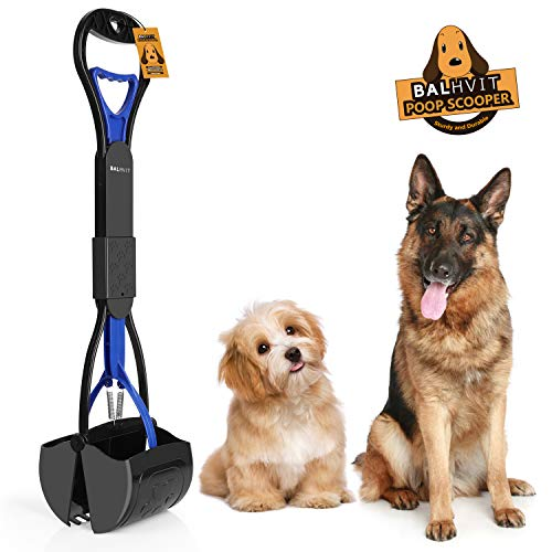 Long Handle Portable Pet Pooper Scooper Dogs Non-Breakable High Strength Durable Foldable Dog Poop Waste Pick Up Rake Jaw Claw Bin