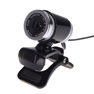 USB 2.0 12 Megapixel HD Camera Web Cam with MIC Clip-on 360 Degree Black