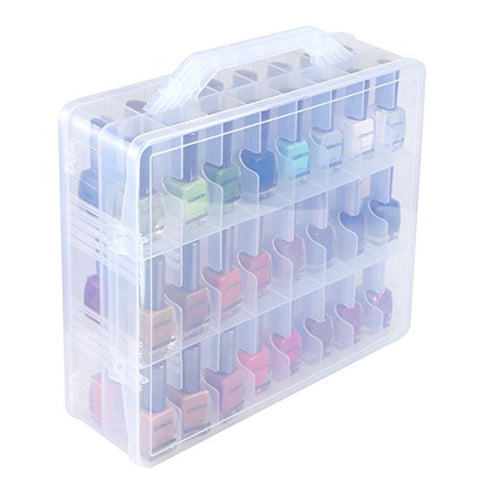 Universal Nail Polish Holder Organizer for 48 Bottles Adjustable Dividers Space Saver