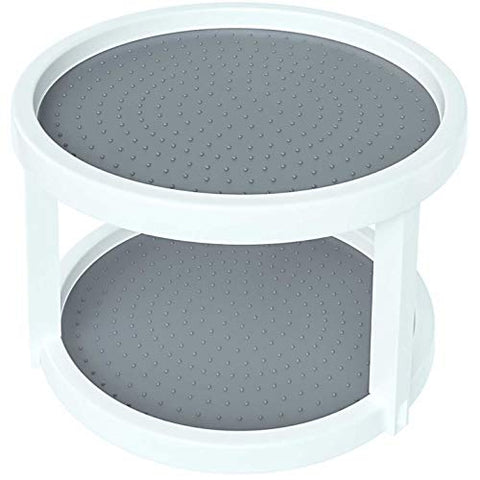 2-Tier Twin Turntable Non Skid Lazy Susan for Cabinets and Pantry (1)