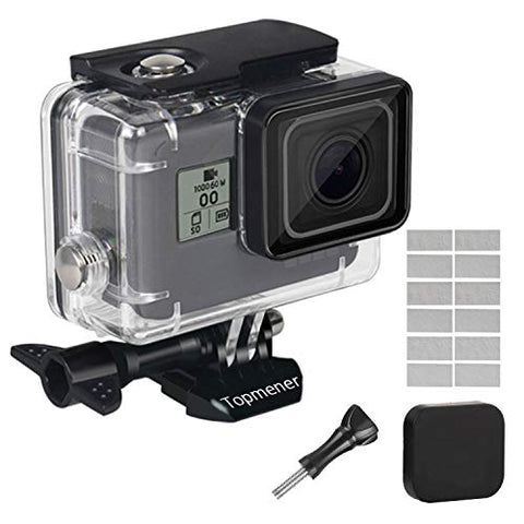 Waterproof Case for GoPro Hero 7 Hero 5/6 2018 Accessories Dive Underwater 45 Meter Protective Frame Anti-Scratch Anti-Fog Insert Thumbscrew Lens Cap
