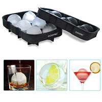 Ice Cube Trays Silicone Set of 2, Sphere Ice Ball Maker with Lid and Large Square Ice Cube Molds for Whiskey, Reusable and BPA Free