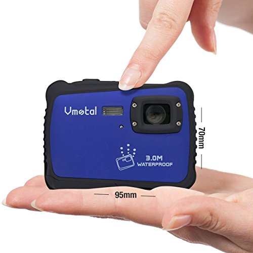 Kids Camera, Underwater Action Camera Dust Proof Camcorder Waterproof Sports Camera HD Camcorder for Children Kids Toys with 2 Inch LCD Display (Blue)