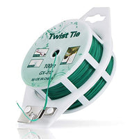 328ft (100m) Twist Ties,Green Coated Garden Plant Ties with Cutter for Gardening and Office Organization, Home